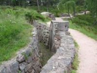 Deutscher Schützengraben in La Linge
